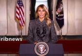 فیلم جنجالی پیام خداحافظی ملانیا ترامپ