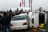 تصادف در اسلامشهر گردن 2 راننده را شکست + عکس