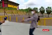 سرقت مسلحانه از فیلمبردار در پخش زنده!+ویدئو