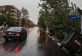 طوفان و باران در راه تهران