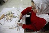 کار هنری فوق العاده دختر معلول اردنی+عکس