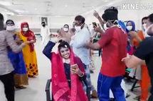 جشن عروسی یک زوج کرونایی در بیمارستان سوژه شد+فیلم