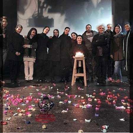 جشن تولد رویا نونهالی سر تمرین تئاتر +عکس